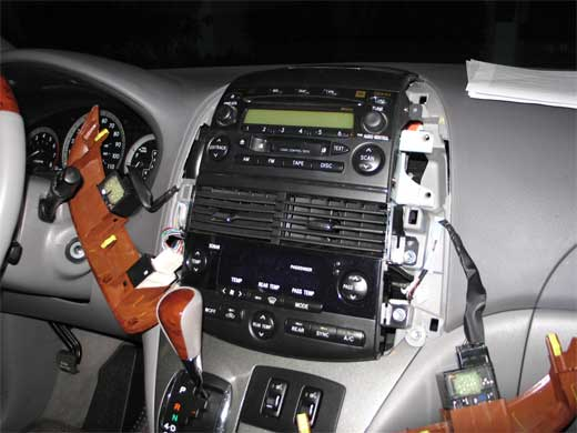 Removing the original Toyota Sienna 2004 CD changer